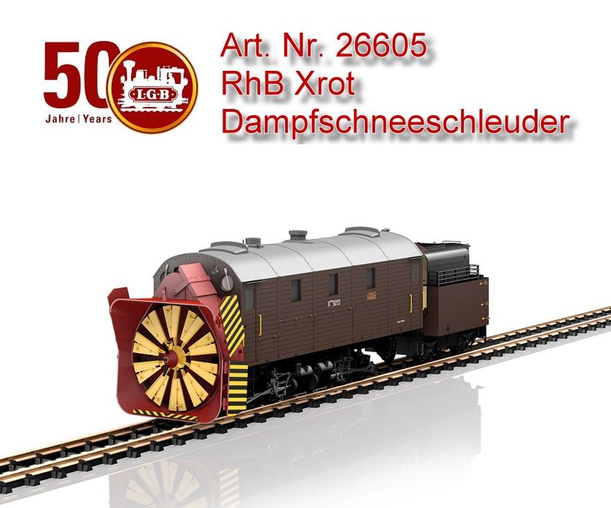 LGB 26605 RhB Dampfschneeschleuder Xrot Spur G